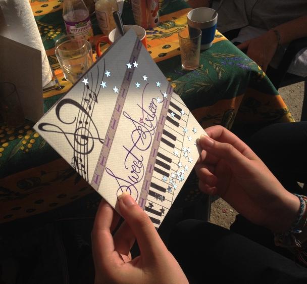Une petite carte faite à la main qui m'a donné envie d'être plus créative à l'avenir !